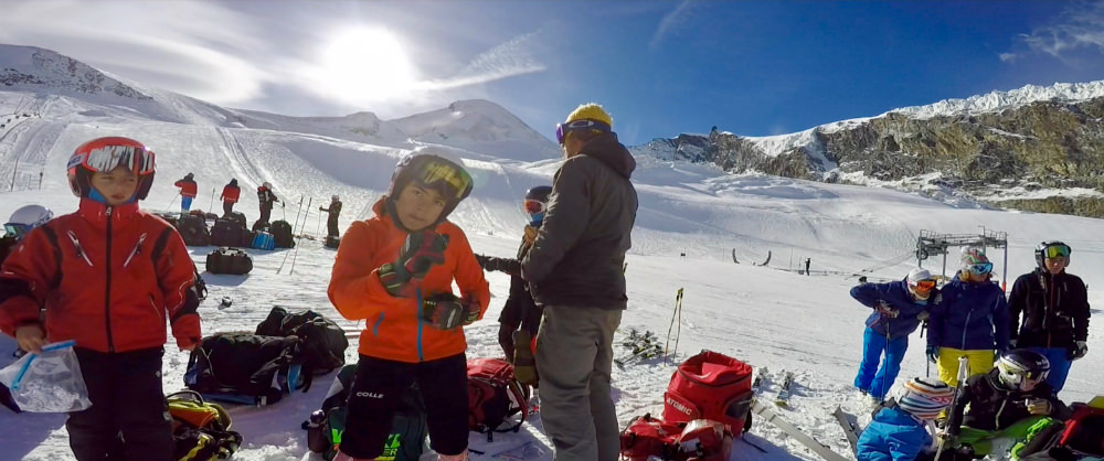 october ski racing camps in saas-fee