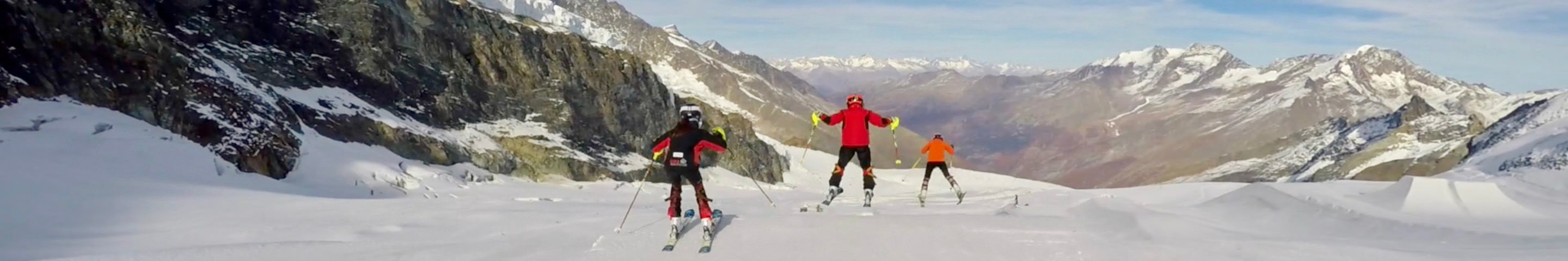 October ski racing camps saas-fee glacier