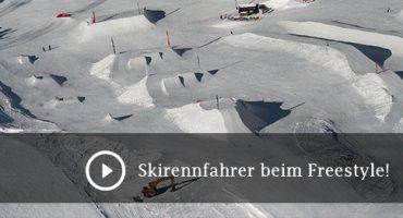Skirennfahrer beim Freestyle!