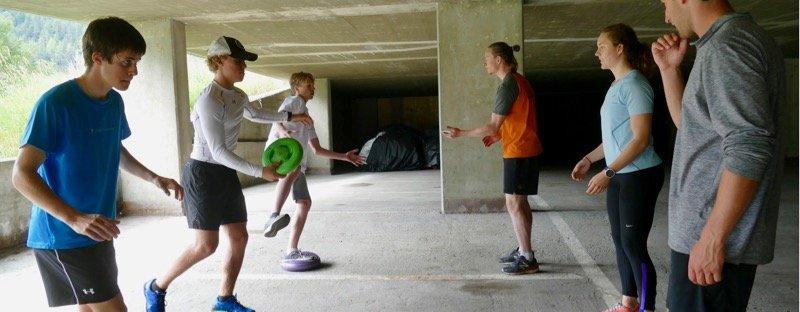 Activités développement athlètes Étirement condition physique